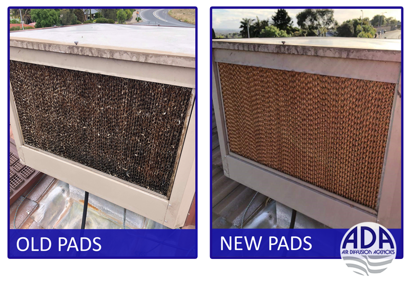 filter pads new vs old installed
