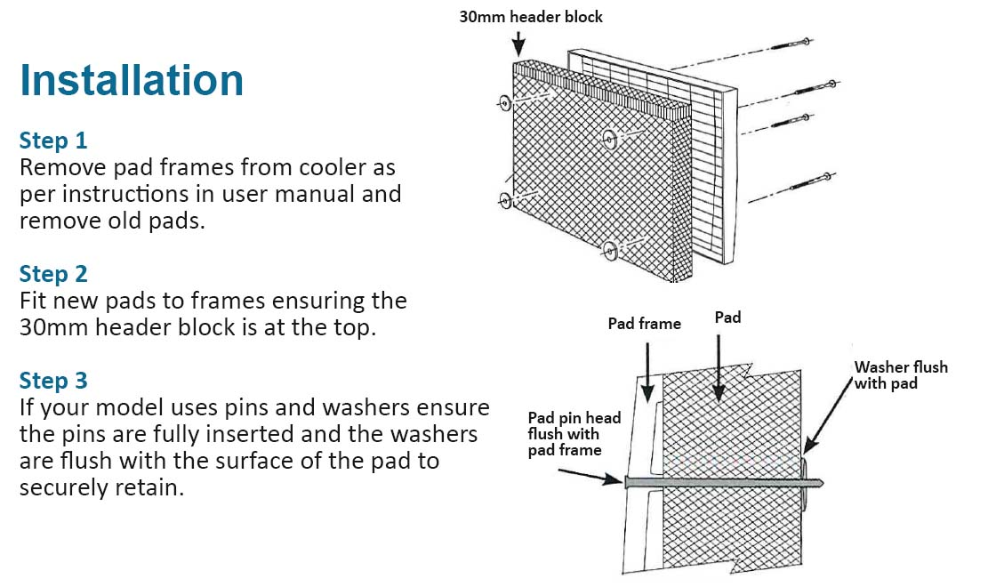 filter pad instructions