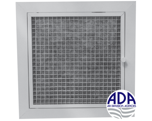 Return Air Grille Removable Core With Filter Model Adhef