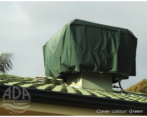 winter cover on roof -green