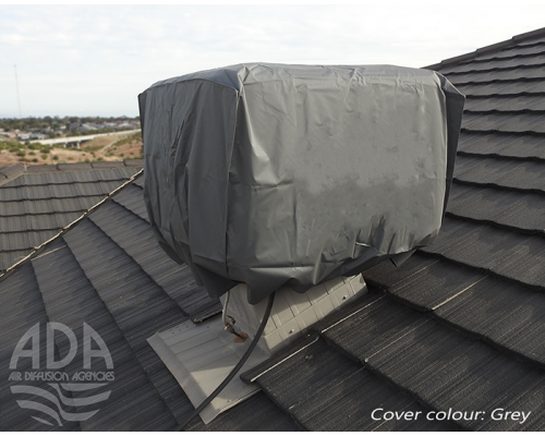 winter cover on roof -grey
