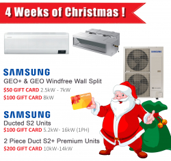 4 Weeks of FREE GIFT CARDS with Samsung Units