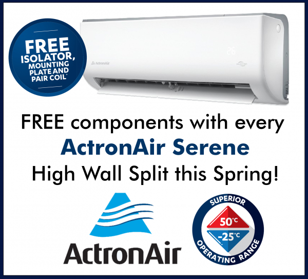 Free components with every Serene High Wall Split this Spring