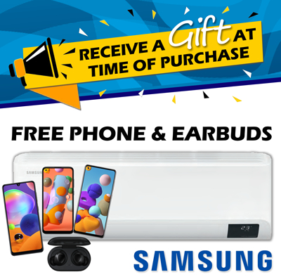 Receive a gift with each Samsung GEO HWS purchased this July