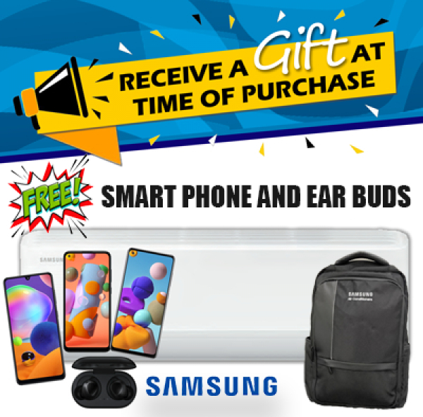 Get a FREE smart phone or ear buds with each Samsung GEO Windfree Wall Split