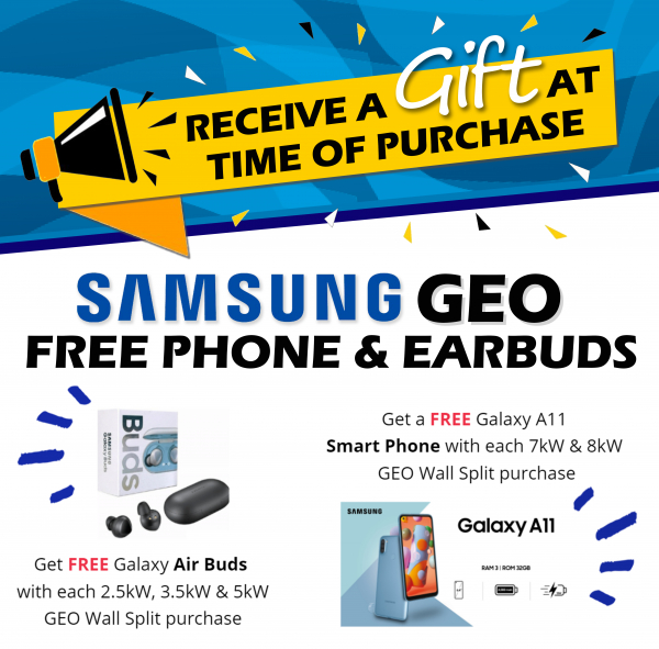 Free gifts with every Samsung GEO HWS this April